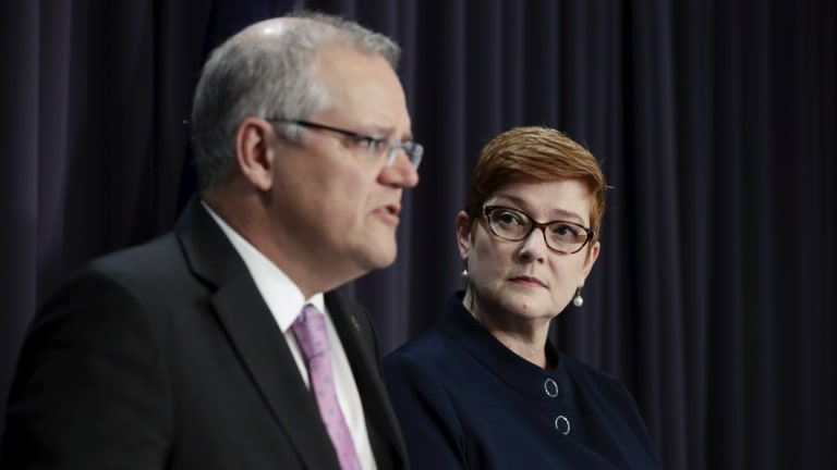 Prime Minister Scott Morrison and Foreign Affairs Minister Marise Payne defend the government's consideration of moving Australia's embassy in Israel to Jerusalem.