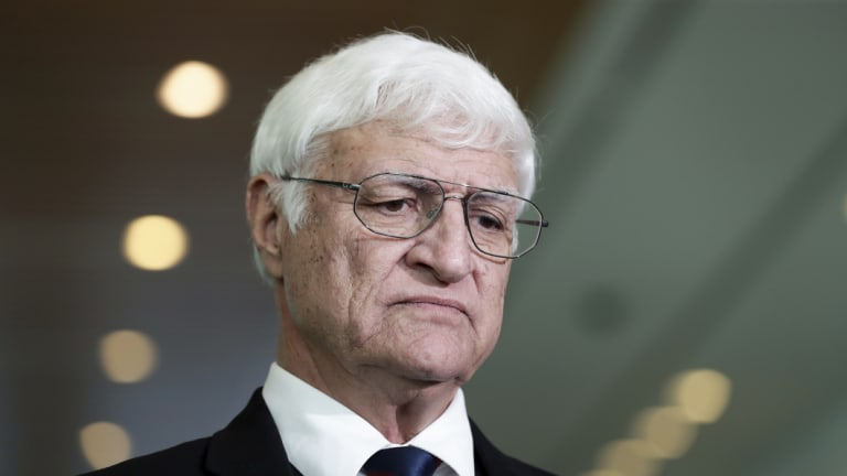 Crossbench MP Bob Katter signed the deal with Prime Minister Scott Morrison in Townsville on Thursday.