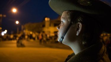 The Anzac Day dawn service in the Deniliquin.