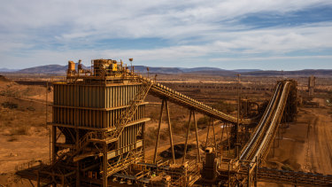 The processing plant at Rio Tinto's West Angeles mine.
