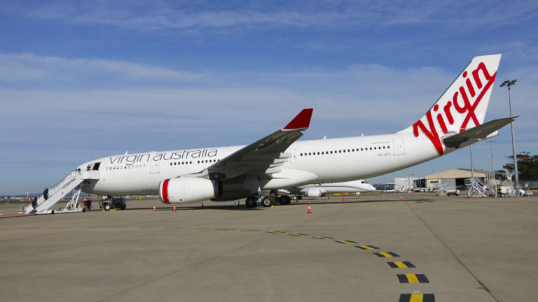 A window opens at Virgin Australia to disembark a CEO and two strategic shareholders