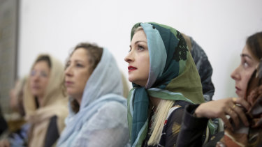 Kate Miller-Heidke attends a group meeting of the equality advocacy organisation Shared Paths.