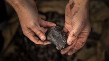 Charcoal from a campfire was used to create ink.