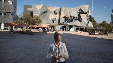 Federation Square trader Georgia Reynolds says a drop in the number of events staged there had seen foot traffic slide.