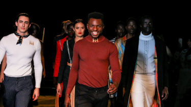 Brisbane-based fashion designer Salomon Lukonga gives 30 per cent of profits from his brandMojalivin to fund medical supplies in the Congo.