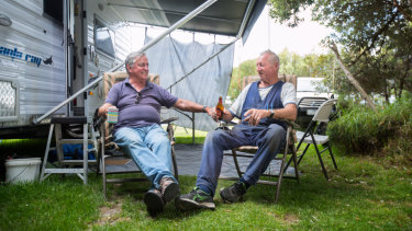 Jim Billings and his close mate Ando have spent nearly 40 years camping at Walkerville.