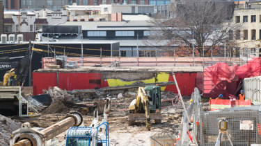 Bulldozers ripped down Redfern's famous Aboriginal flag mural this week.