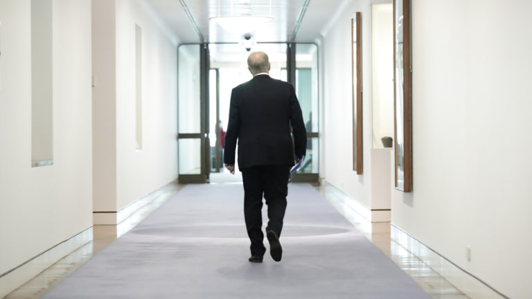 Prime Minister Scott Morrison heads for his office on the final sitting day of the year.