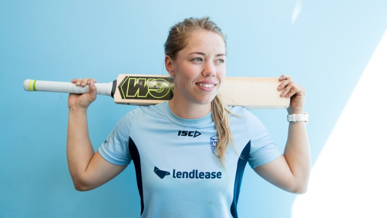 NSW Breakers batter Naomi Stalenberg is on the cusp of breaking into the Australian team.