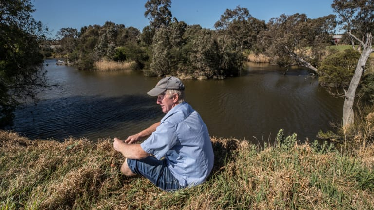 David Wallace's property, which has been in his family for 113 years, borders the Maribyrnong River.