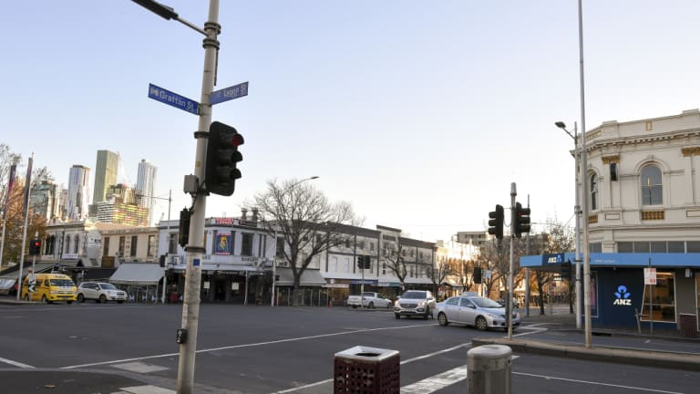 The intersection of Lygon and Grattan streets, as it is today.