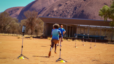 There was a decent turn-out at the Uluru camp.