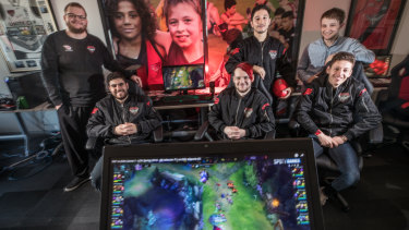 Essendon's esports team 'Bombers', will compete at the MEO on Sunday.