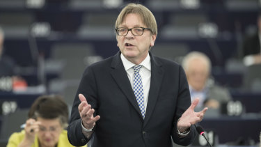 European Parliament Brexit chief Guy Verhofstadt.