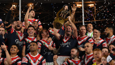 Glory days: The Roosters, boasting a host of locally developed talent, take out last year's title.