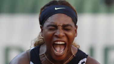 Serena Williams vents her frustration during her third-round French Open loss.