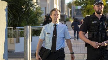 Forensic crash investigator Senior Constable Steven Cornish outside court.