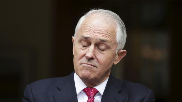 Dead man walking ... Prime Minister Malcolm Turnbull.
