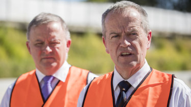 Frustrations in the Right are seen as a danger sign for Opposition Leader Bill Shorten, right, whose leadership rival Anthony Albanese, left, has set out an alternative vision for the party.