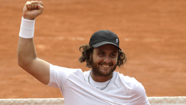 Argentina's Marco Trungelliti after his win over Bernard Tomic.