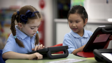 Students at St Margaret Mary's Catholic Primary School in Randwick are showing strong signs of academic improvement.