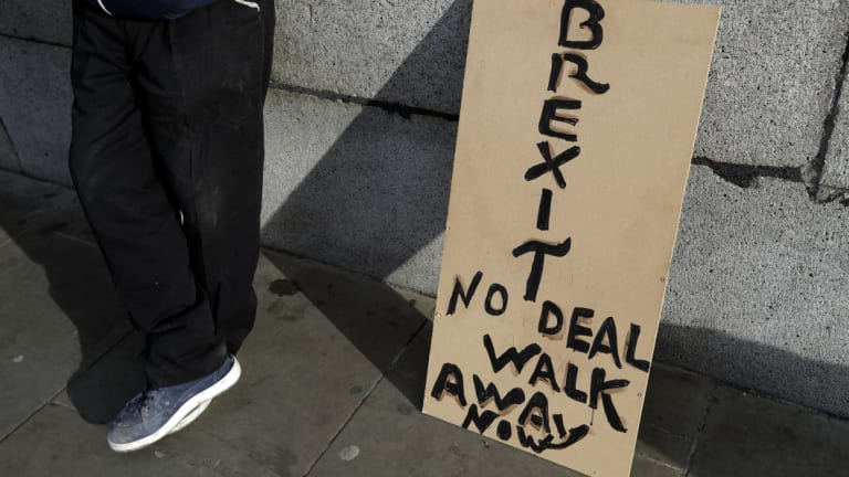 Talks to end Britain's Brexit stalemate appeared to be deadlocked.
