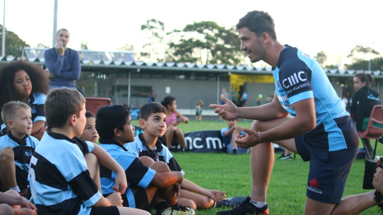 Back: Jake Gordon will wear the No.9 jersey again this week for the Waratahs.