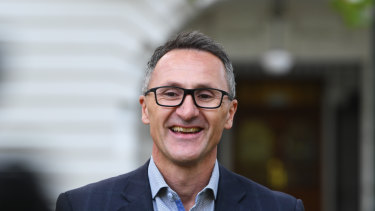 Greens leader Richard Di Natale had a good day in the end.