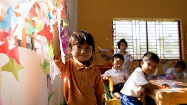 A preschool class at Kandal province.