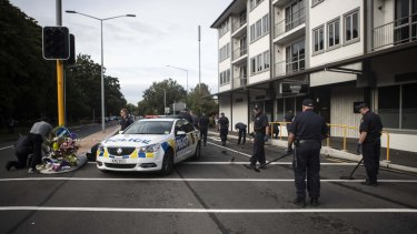 Police search for explosive devices in Christchurch.