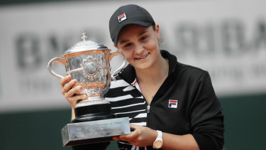 Ash Barty has won her first grand slam title despite taking a year off earlier in her career.