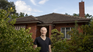Architect Michael Tolhurst is replacing this brick cottage on Captain Cook Crescent, Narrabundah with a Passivhaus home – but he has conceded the need for air conditioning.