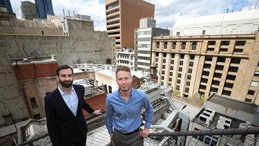 Will van de Pol (left) and Julien Vincent of Market Forces.
