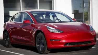 2018 Tesla Model 3 sedan.