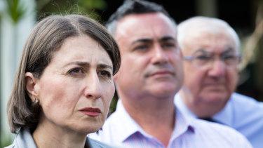 NSW Premier Gladys Berejiklian and Deputy Premier John Barilaro.