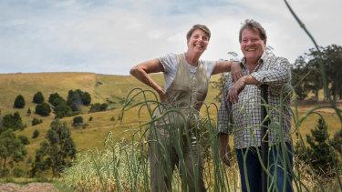 Kirsten and David Jones at their farm.