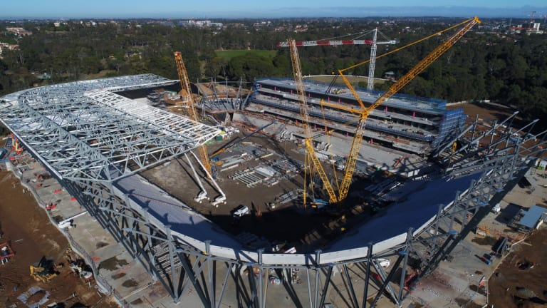 World class: The new Western Sydney Stadium will have fans closer to the action than anywhere in the country.