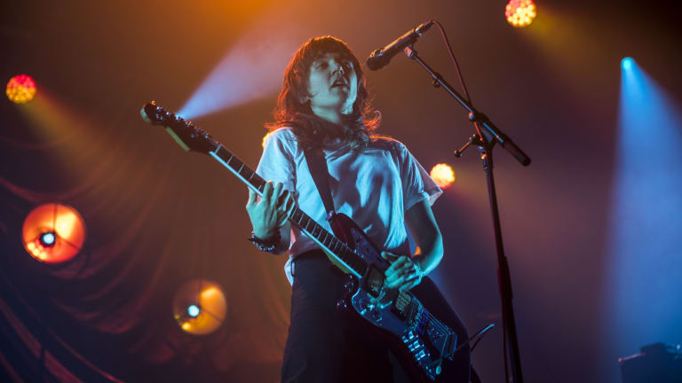 Quintessentially Melbourne: Courtney Barnett performs at Festival Hall on Saturday.