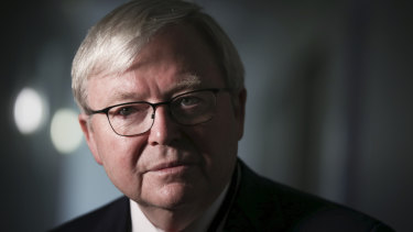 "Former prime minister Kevin Rudd claims Mossad had been ""found out"" forging Australian passports before, in 2003."