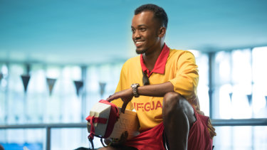 Abdullahi Mohamed grew up in Somalia not knowing how to swim but has since learnt and trained to become a lifeguard in Australia.