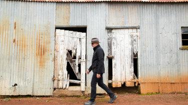 "Mark Textor describes his parcel of land in Goulburn as ""rough as guts""."
