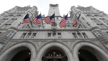 The Trump International Hotel in Washington. The attorneys general of the District of Columbia and Maryland want to know if Donald Trump is profiting off the presidency.