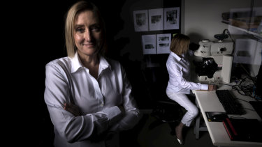 Professor Cyndi Shannon Weickert, NSW Chair of Schizophrenia, is pictured in the laboratory where her groundbreaking discovery was made.