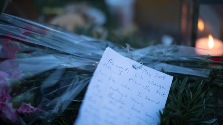 A note left at the scene.