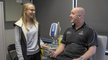 Rachel Tallent and Dr Richard Keegan will be working on the injury warning signs project at the University of Canberra.