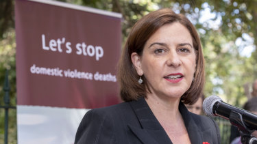 Opposition Leader Deb Frecklington wil review funding of community legal services if the LNP wins office at the next state election.