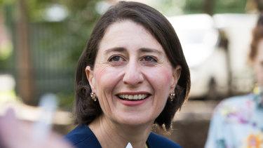 NSW Premier Gladys Berejiklian on Sunday after her election victory.