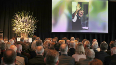 A life remembered: Australian golfer Peter Thomson's memorial at the MCG's Members' Dining Room.