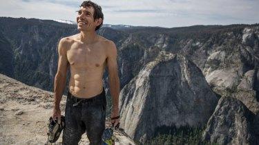 Alex Honnold atop El Capitan in Yosemite National Park, California.