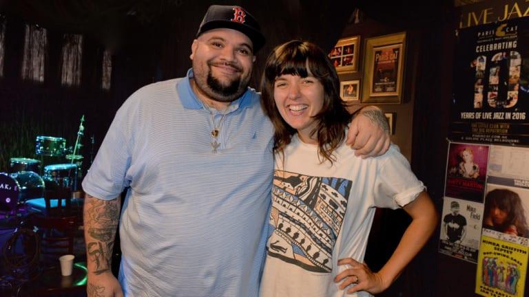 Melbourne artists Courtney Barnett and rapper Briggs.